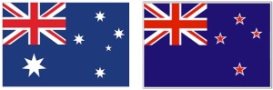 Aus & NZ Flags